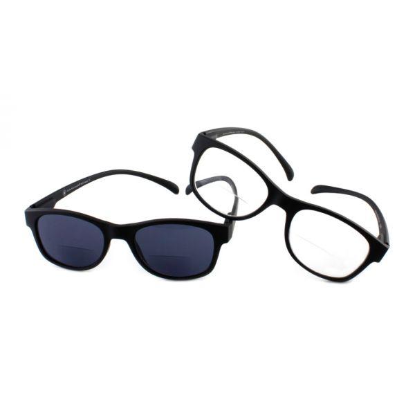 Set lees en zonneleesbril bifocaal Klammeraffe zwart-1-NEO1000