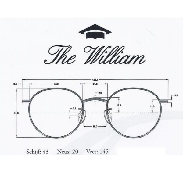 Leesbril The Academy Collection the William s45 goud-4-ENO1006