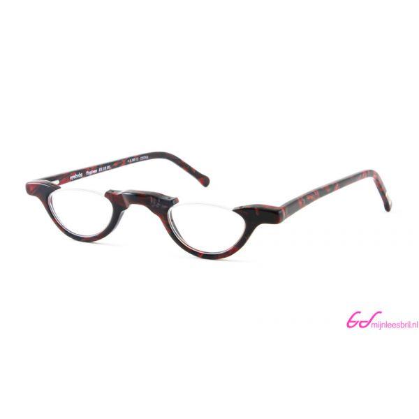 Leesbril Topless 2110 01-Zwart / Bordeaux Rood-+2.50-1-EYE1128250