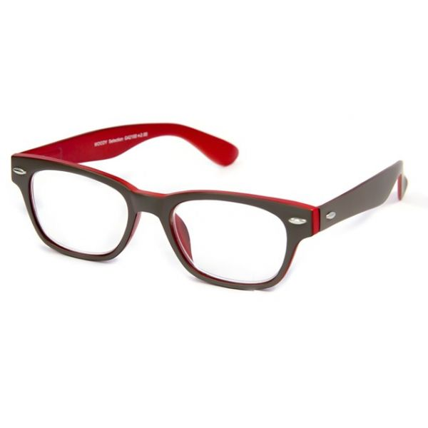Leesbril INY Woody Double G42100 grijs/rood-1-INY1067