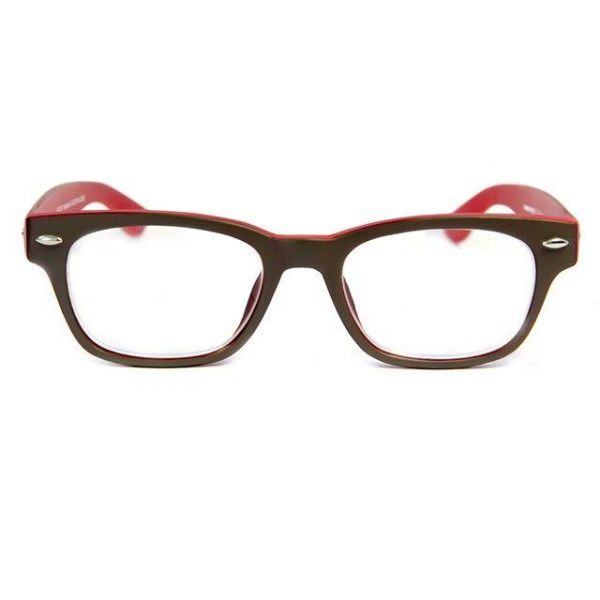 Leesbril INY Woody Double G42100 grijs/rood-2-INY1067