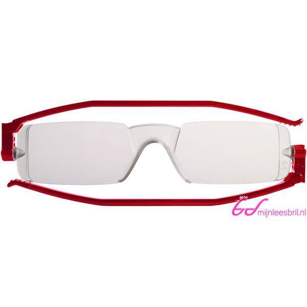 Leesbril Nannini compact opvouwbaar-Rood-+1.00-1-ETU1004100