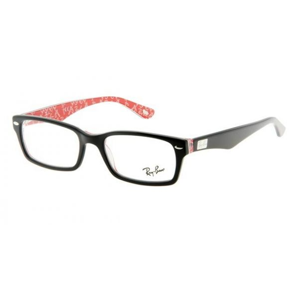 Leesbril Ray-Ban RX5206-2479-52 zwart/rood-1-LUX1036