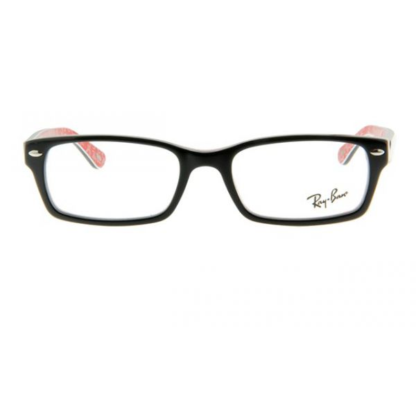 Leesbril Ray-Ban RX5206-2479-52 zwart/rood-2-LUX1036