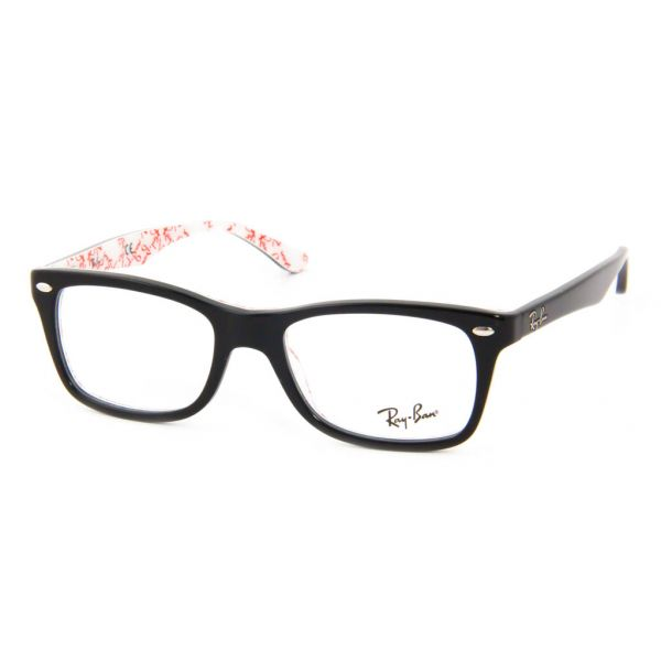 Leesbril Ray-Ban RX5228-5014-50 zwart/wit-1-LUX1070