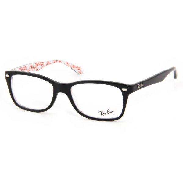 Leesbril Ray-Ban RX5228-5014-53 zwart/wit-1-LUX1074