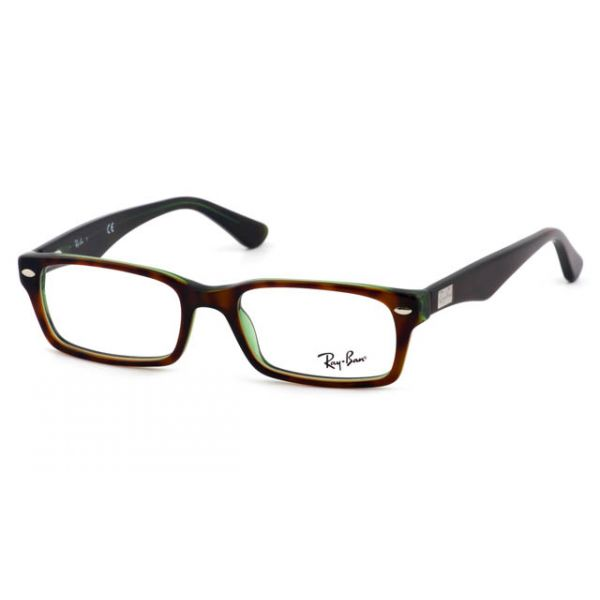 Leesbril Ray-Ban RX5206-2445-52 havanna/transparant groen-1-LUX1049