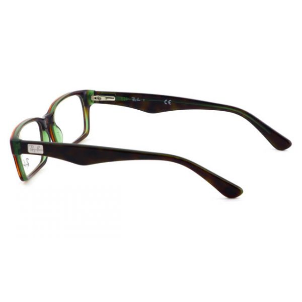 Leesbril Ray-Ban RX5206-2445-52 havanna/transparant groen-3-LUX1049
