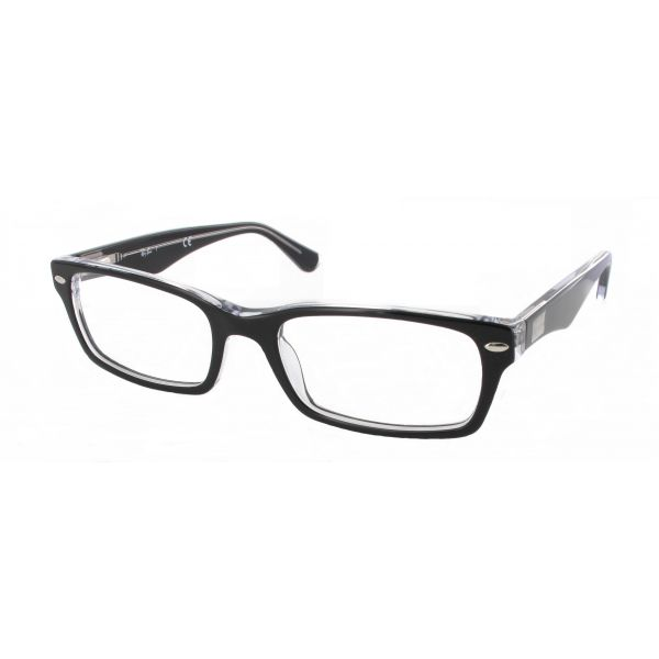 Leesbril Ray-Ban RX5206-2034-52 zwart/transparant-1-LUX1097