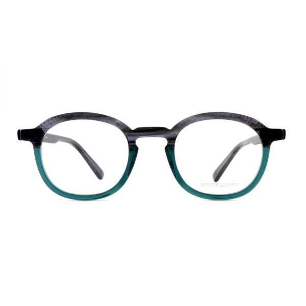 Leesbril State of Art 074 zwart / turkoois-2-MOR1009