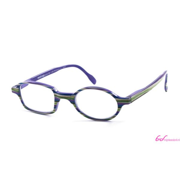 Leesbril Readloop Toukan-Groen paars gestreept-+3.00-1-RDL1029300