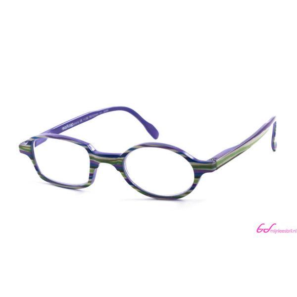 Leesbril Readloop Toukan-Groen paars gestreept-+2.50-1-RDL1029250
