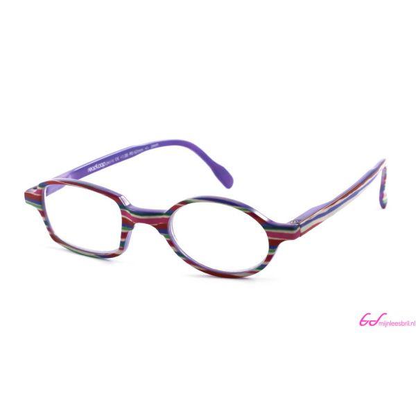 Leesbril Readloop Toukan-Roze paars gestreept-+1.00-1-RDL1030100