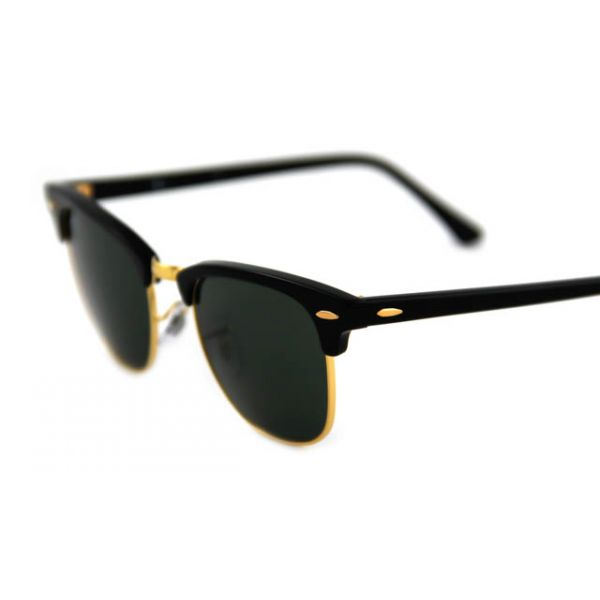 Zonneleesbril Ray-Ban Clubmaster RB3016-W0365-49 zwart/goud-4-LUX1062