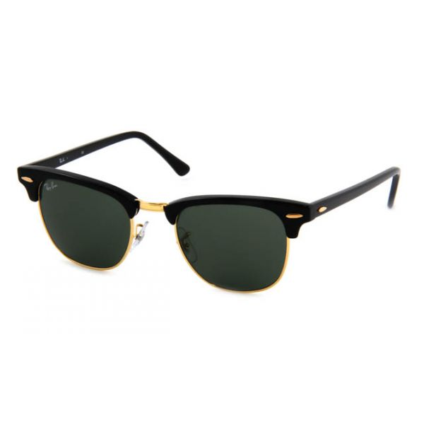 Zonneleesbril Ray-Ban Clubmaster RB3016-W0365-49 zwart/goud-1-LUX1062