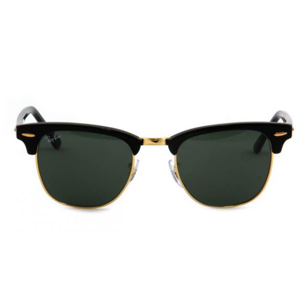 Zonneleesbril Ray-Ban Clubmaster RB3016-W0365-49 zwart/goud-2-LUX1062