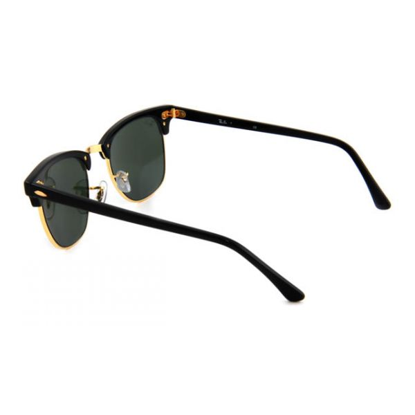 Zonneleesbril Ray-Ban Clubmaster RB3016-W0365-49 zwart/goud-3-LUX1062