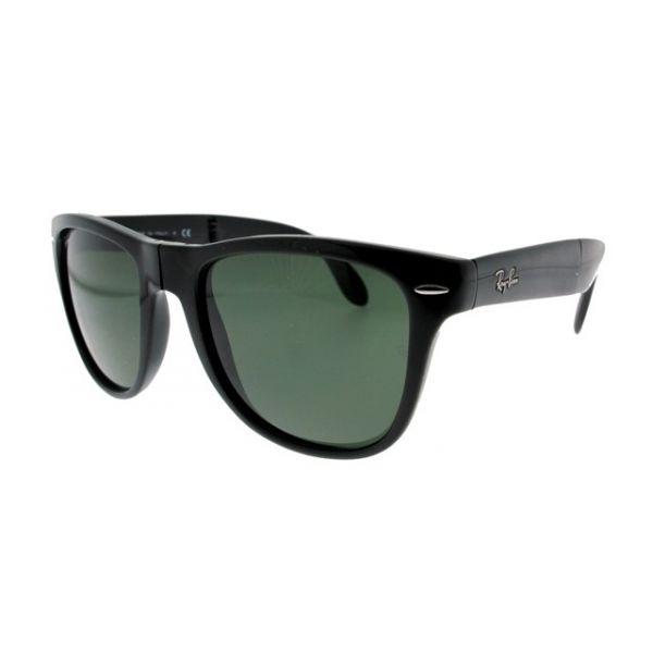 Opvouwbare leeszonnebril Ray-Ban Folding Wayfarer RB4105-601-54 zwart-3-LUX1029