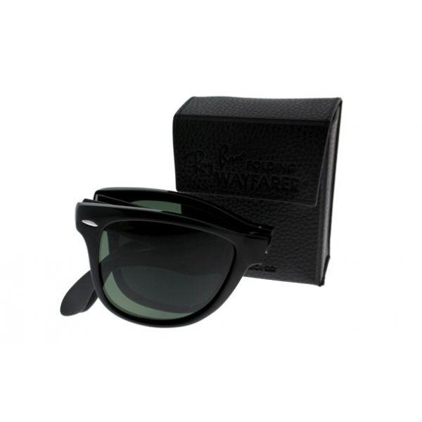 Opvouwbare leeszonnebril Ray-Ban Folding Wayfarer RB4105-601-54 zwart-2-LUX1029