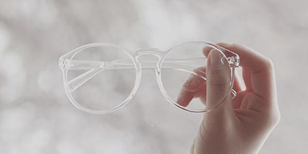 Super trendy: transparante brillen!