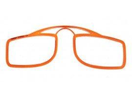 Leesbril OOPS oranje/transparant | mijnleesbril.nl