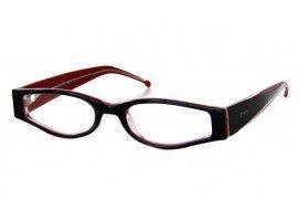 Leesbril JOS 9125-B226 zwart/rood | Mijnleesbril.nl