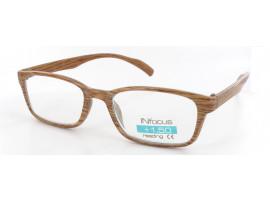 Leesbril Infocus licht hout-look