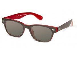 Leeszonnebril INY Woody Double G42100 grijs/rood | Mijnleesbril.nl