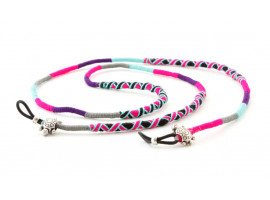 Brilketting Happy - Nes roze/turkoois
