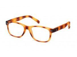 leesbril-blauw-licht-filter-blueberry-toffee-tortoise-b#1-C10-L-blond-schuin |mijnleesbril.nl