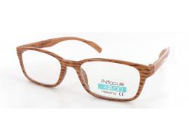 Leesbril Infocus donker hout-look