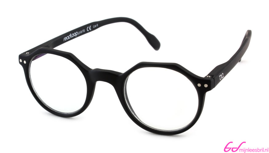 Leesbril Readloop Hurricane 2623-16 zwart met uv en blauwlicht filter