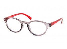 Leesbril iZi reader 09 grijs rood - mijnleesbril.nl
